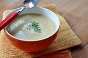 Kremowa zupa z brukselki i kalafiora