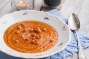 Zupa krem z pieczonej marchewki i dyni