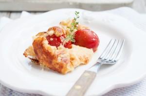 Wytrawne clafoutis z pomidorami