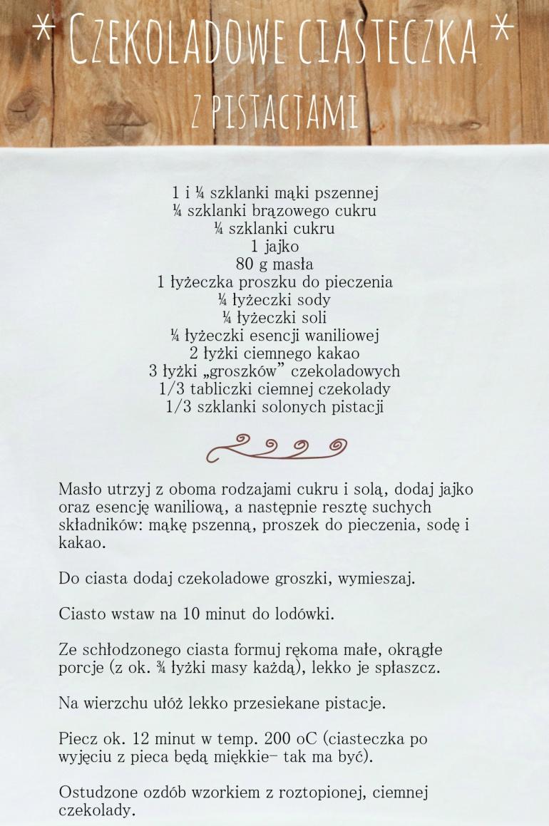 6. czekoladowe ciasteczka z pistacjami 2