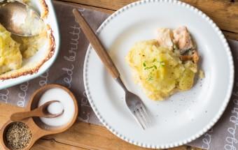 zapiekanka z łososiem i kurkami (3)