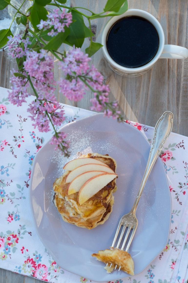 placki z jabłkami i bananami kuchnia agaty (2)