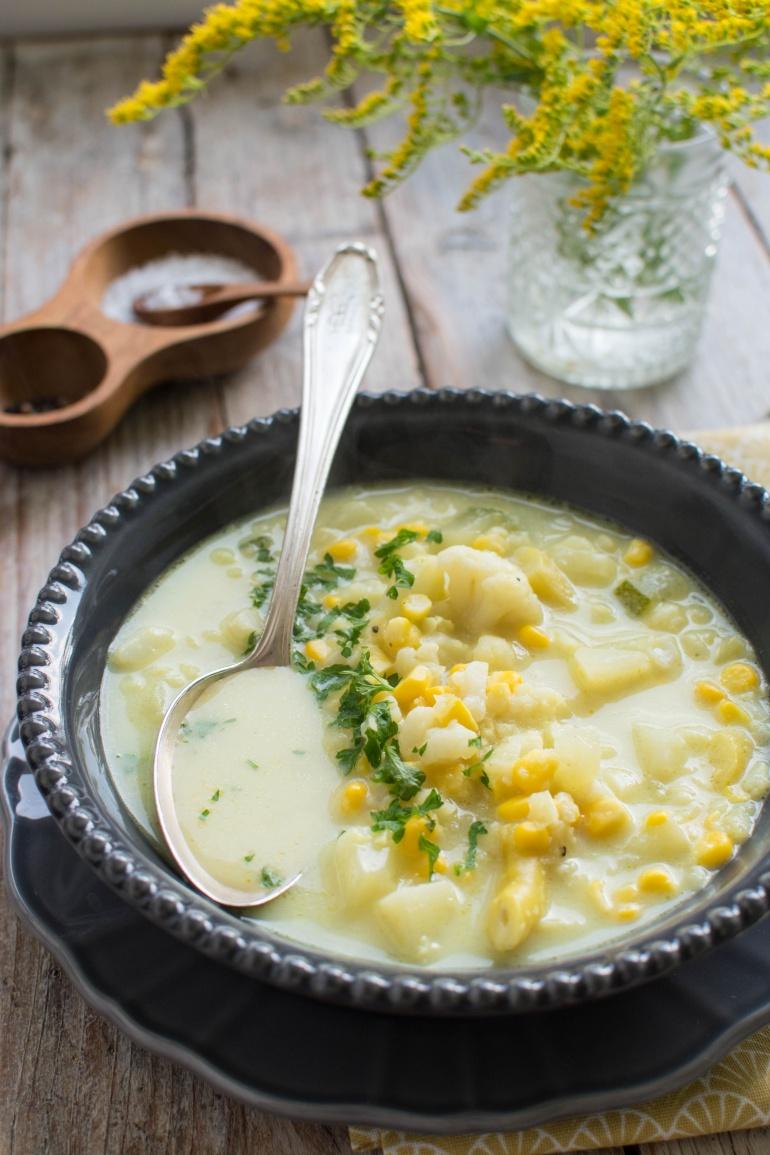 zupa z kukurydzy i kalafiora kuchnia agaty (2)