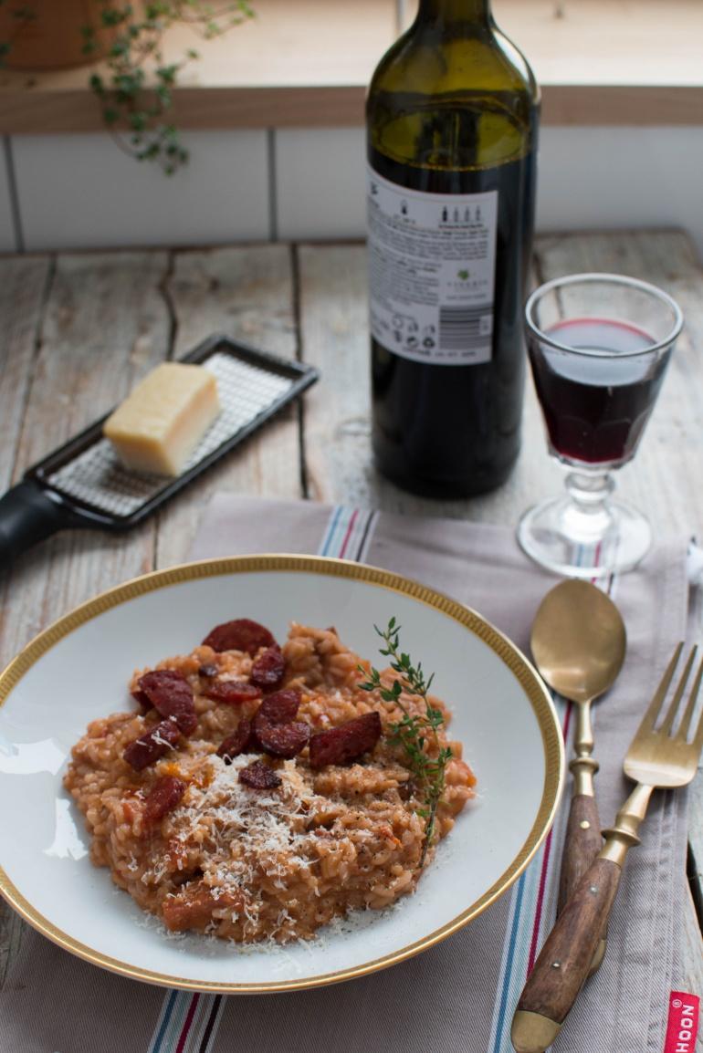 risotto z chorizo i czerwonym winem kuchnia agaty (1)