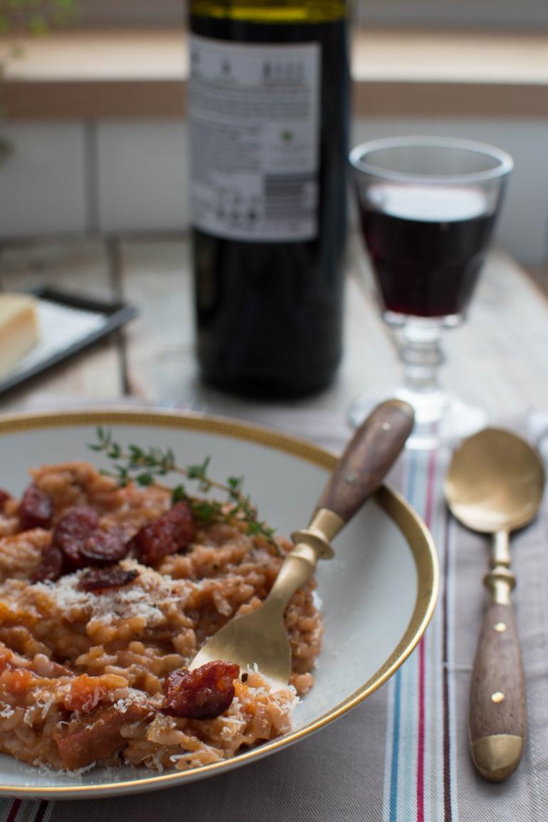 risotto z chorizo i czerwonym winem kuchnia agaty (4)