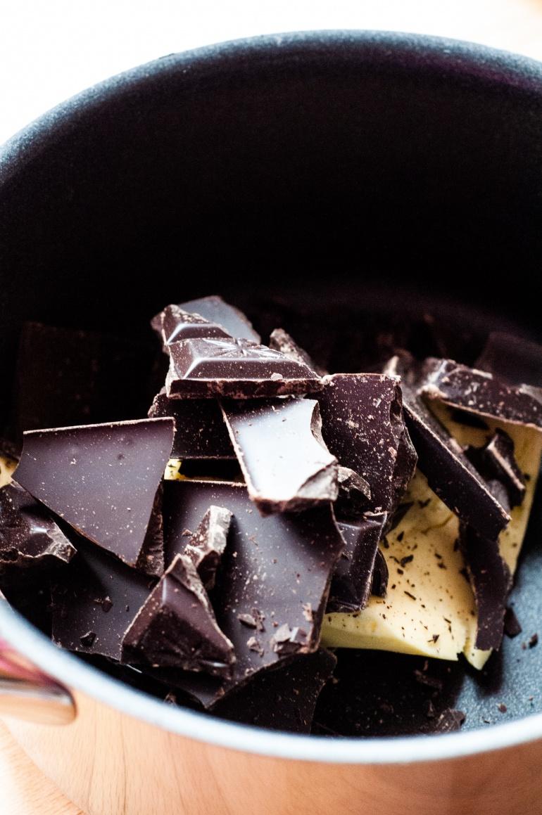 ciemna czekolada i masło