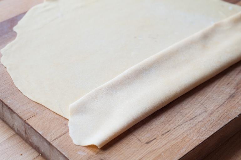 ciasto na domowy makaron tagliatelle