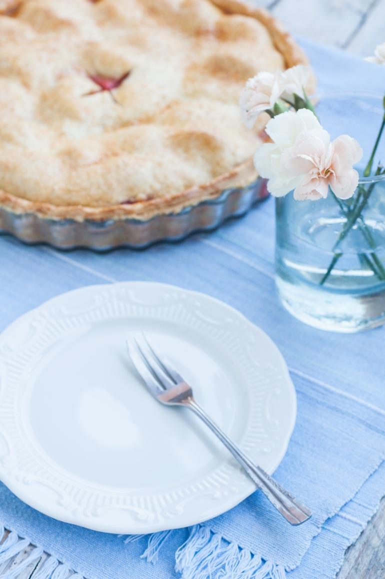 Ciasto brzoskwiniowe z truskawkami pie (1)