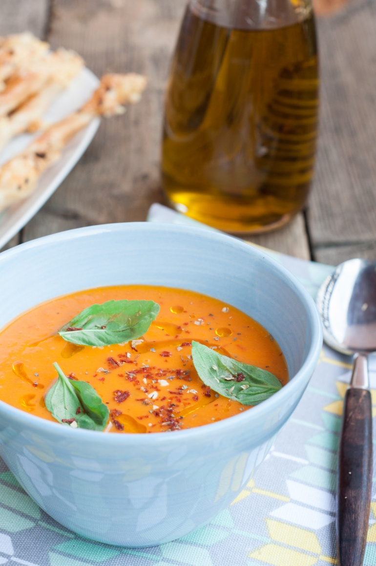 Sezonowa zupa ze  świeżych pomidorów (3)