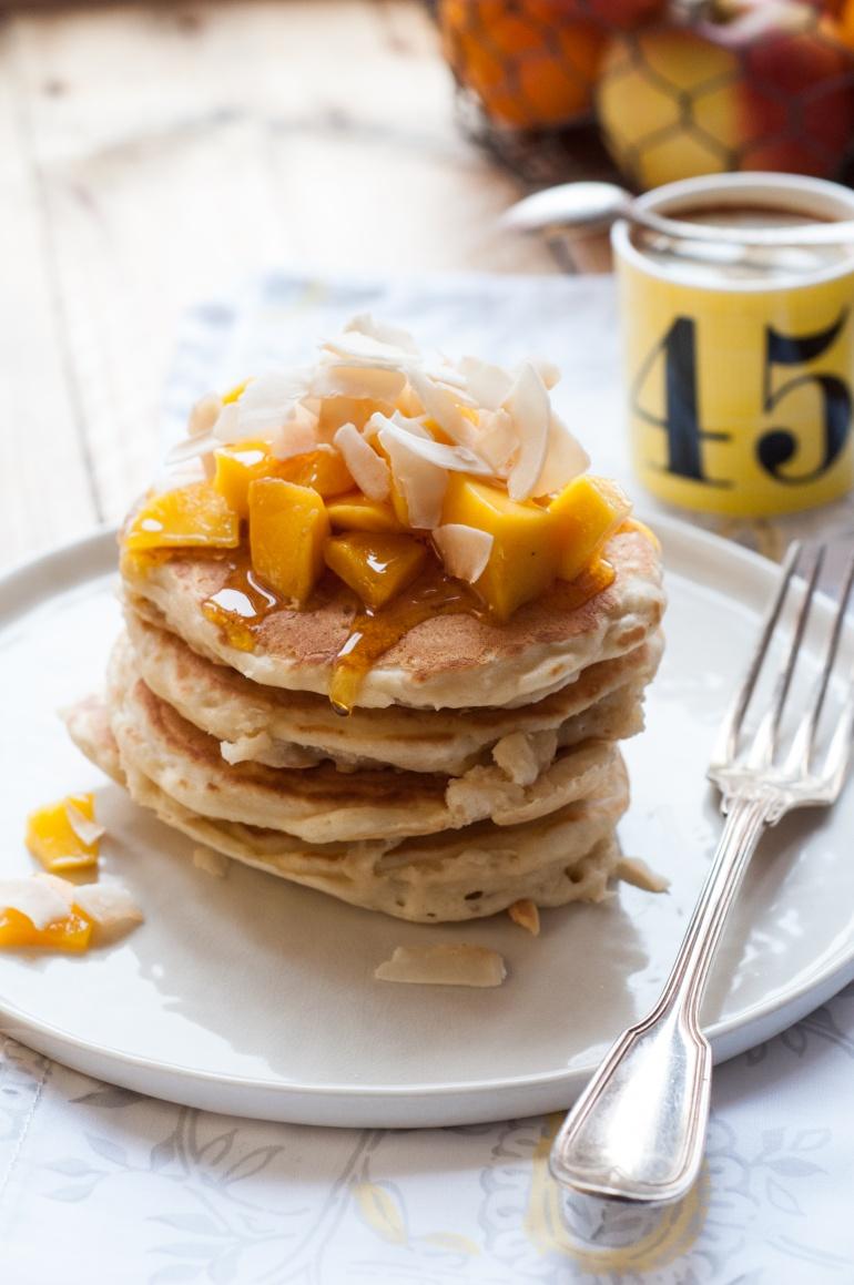 Placuszki z wiórkami i mlekiem kokosowym (kokosowe pancakes) (4)