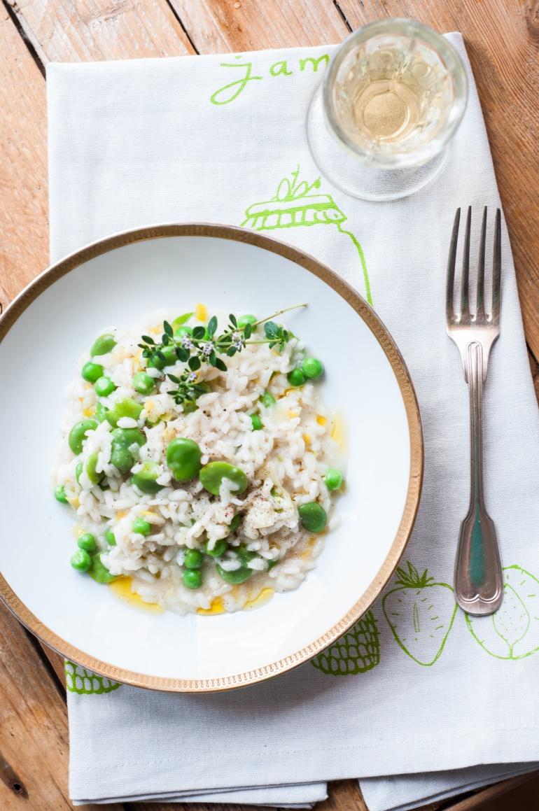 risotto z bobem i groszkiem (1)