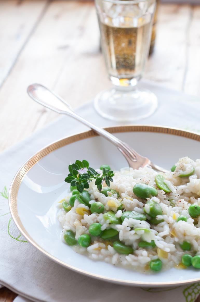 risotto z bobem i groszkiem (3)
