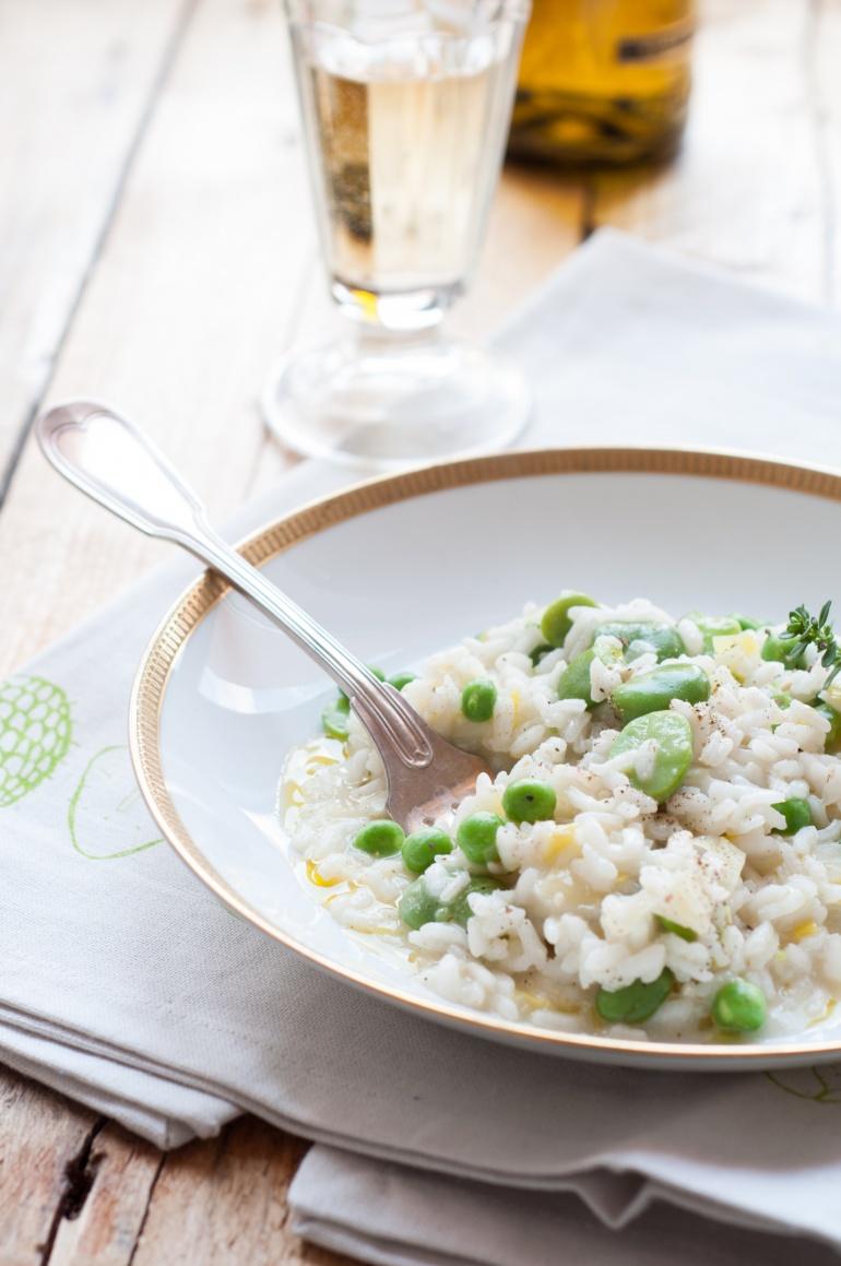 risotto z bobem i groszkiem (4)