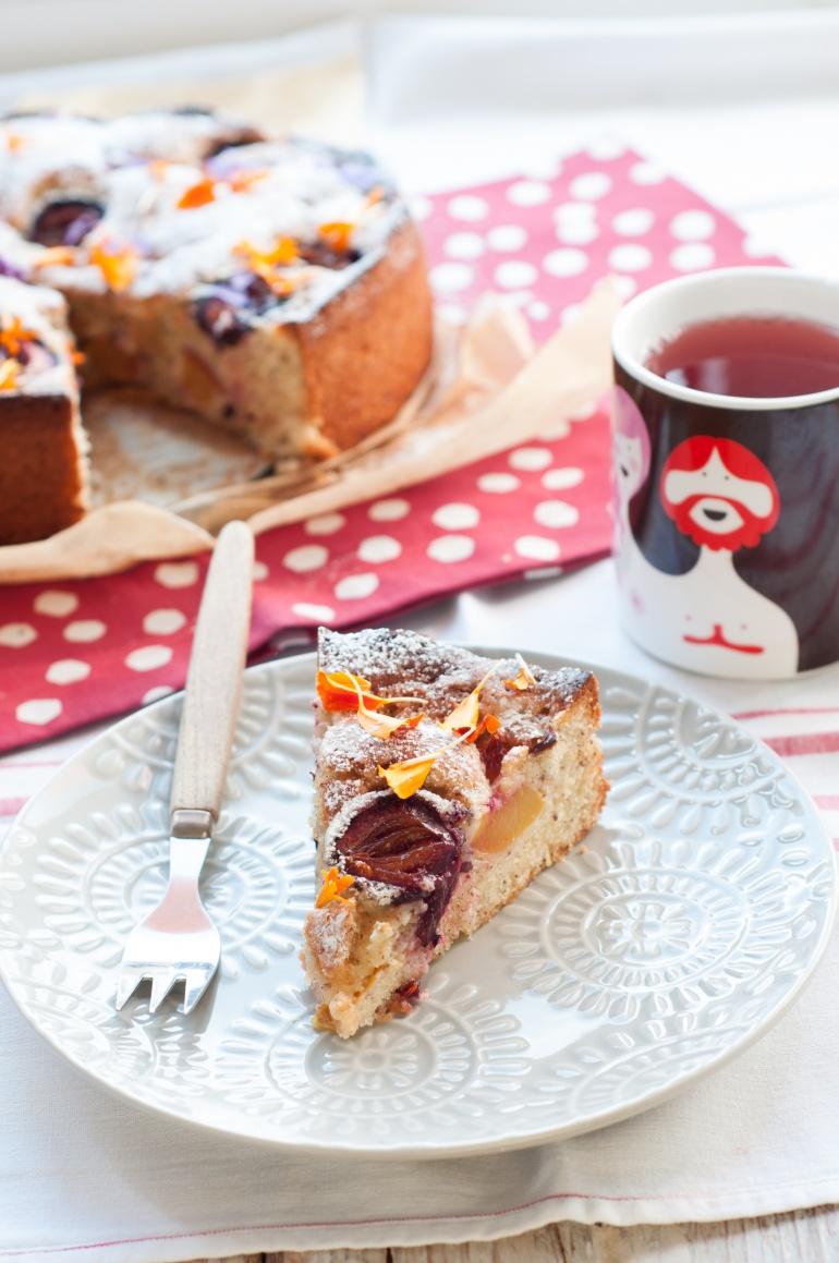 orzechowe ciasto ze śliwkami (7)