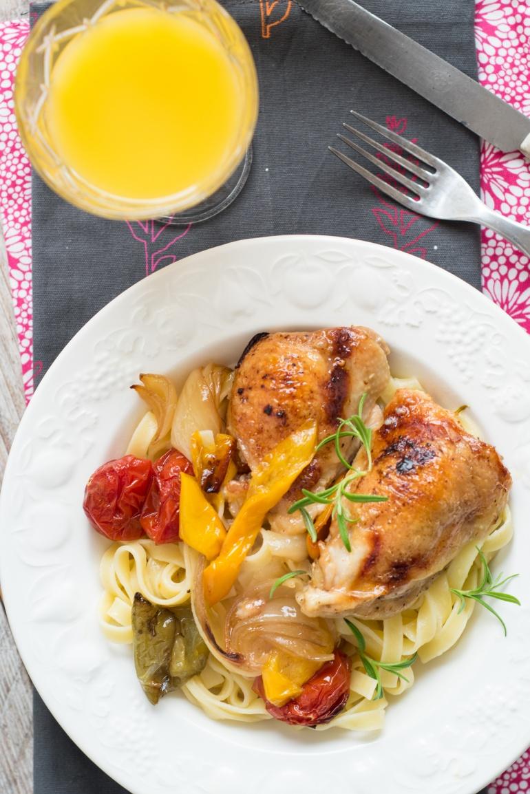 makaron z kurczakiem i warzywami (5)