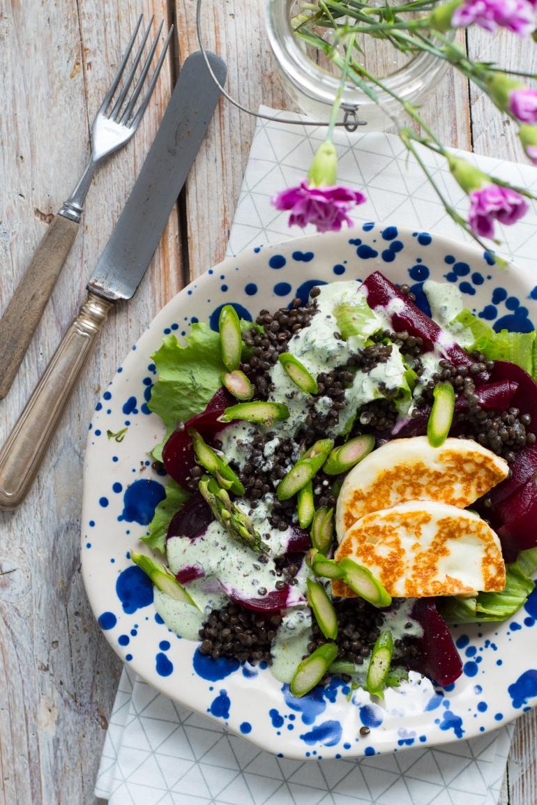 sałatka z soczewicą i hallumi kuchnia agaty (4)