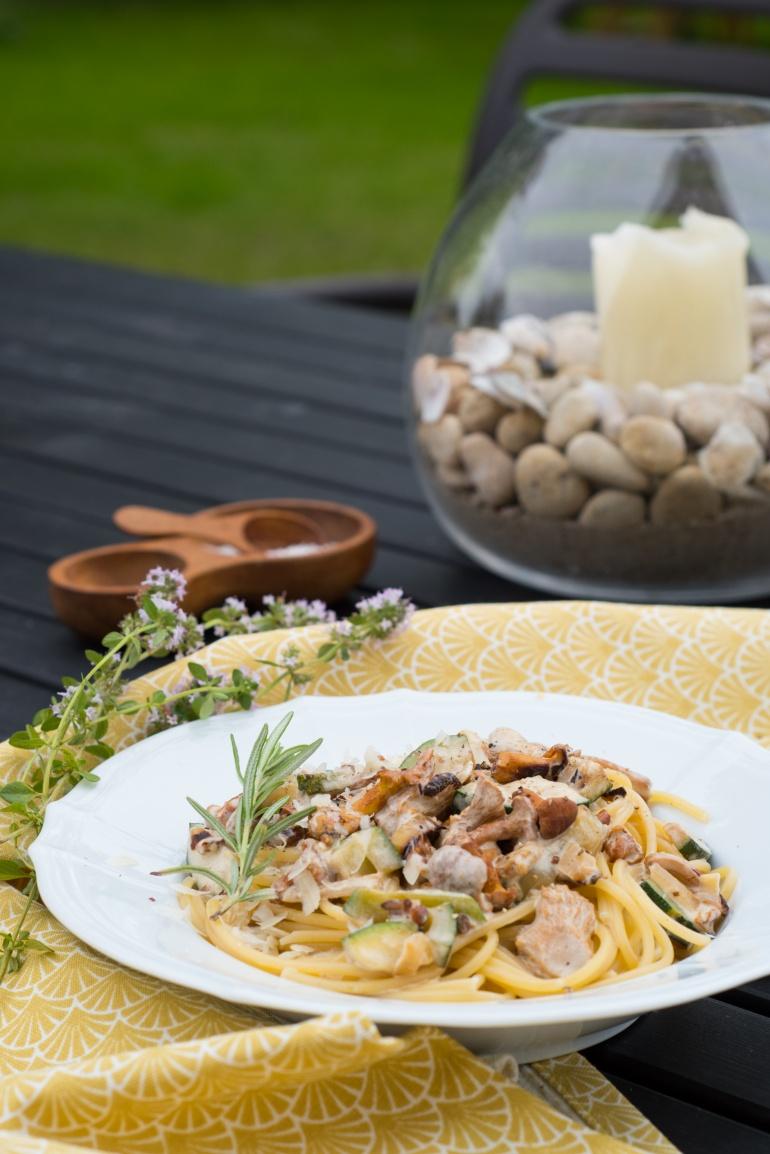 makaron z kurkmi i cukinią kuchnia agaty (1)
