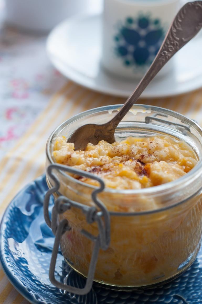 ryżowy pudding z dynią na mleku kokosowym