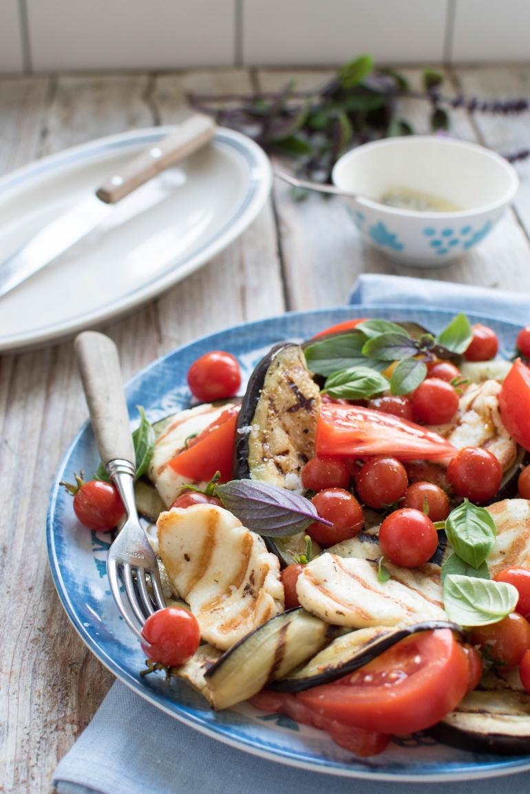 sałatka z grillowanym bakłażanem kuchnia agaty (3)