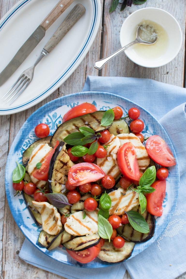 sałatka z grillowanym bakłażanem kuchnia agaty (4)