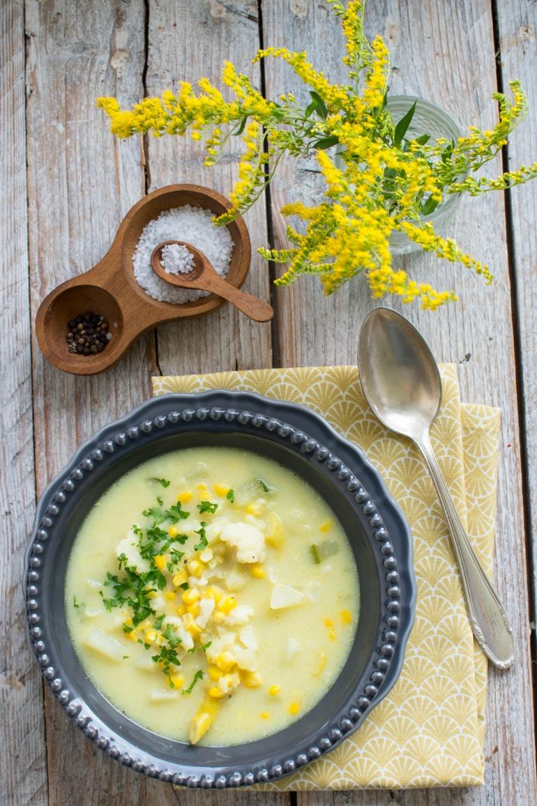 zupa z kukurydzy i kalafiora kuchnia agaty (3)