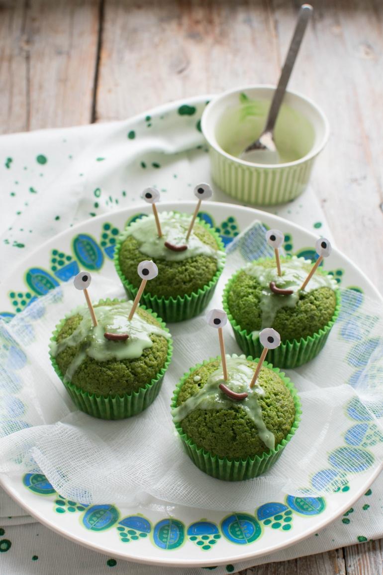 zielone babeczki szpinakowe na halloween kuchnia agaty (1)