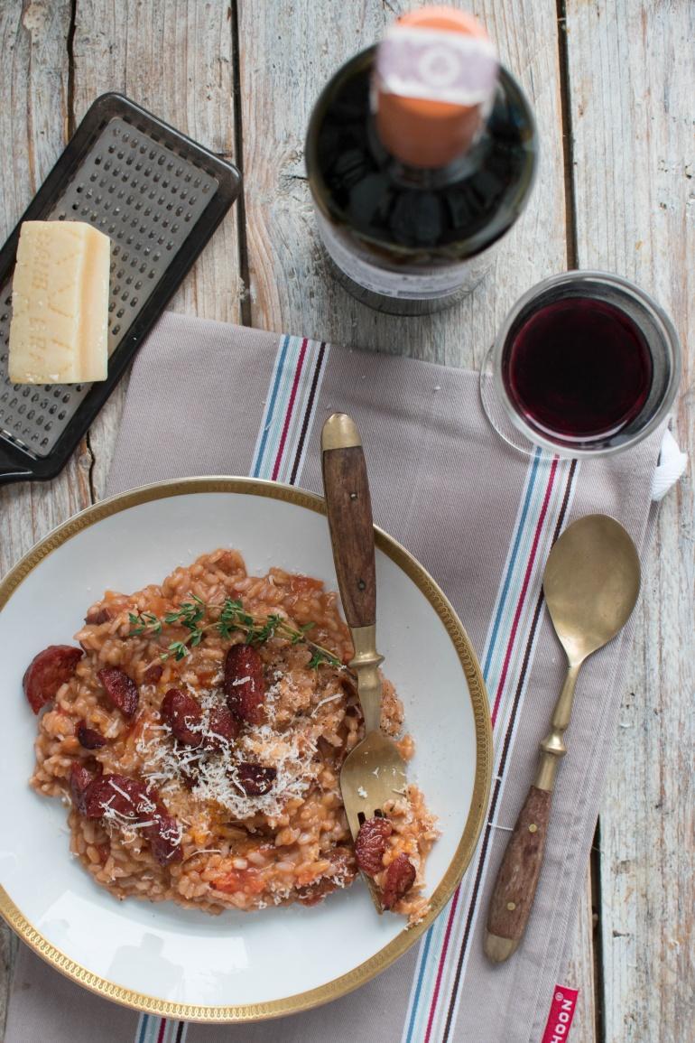 risotto z chorizo i czerwonym winem kuchnia agaty (2)