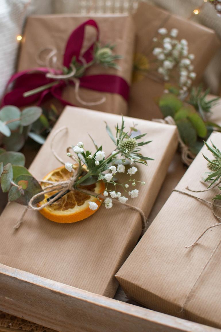 naturlane ozdabianie prezentów