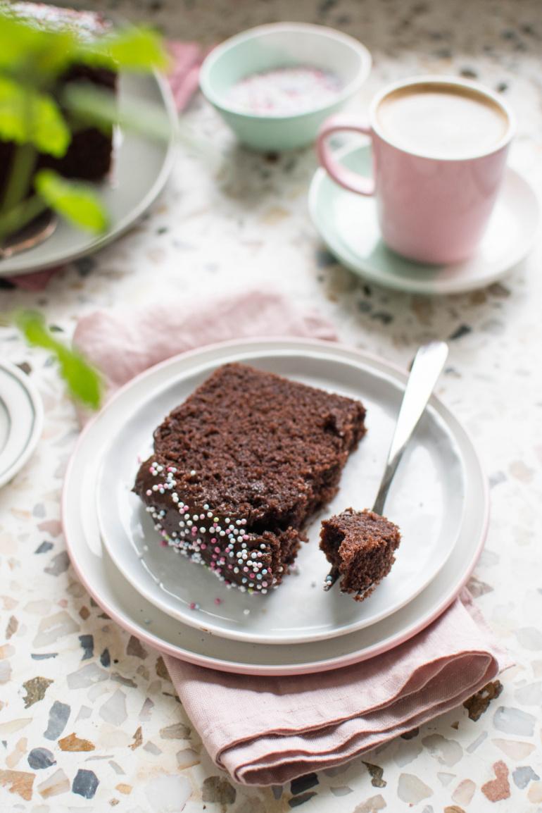 Ciasto czekoladowe z kremem czekoladowym