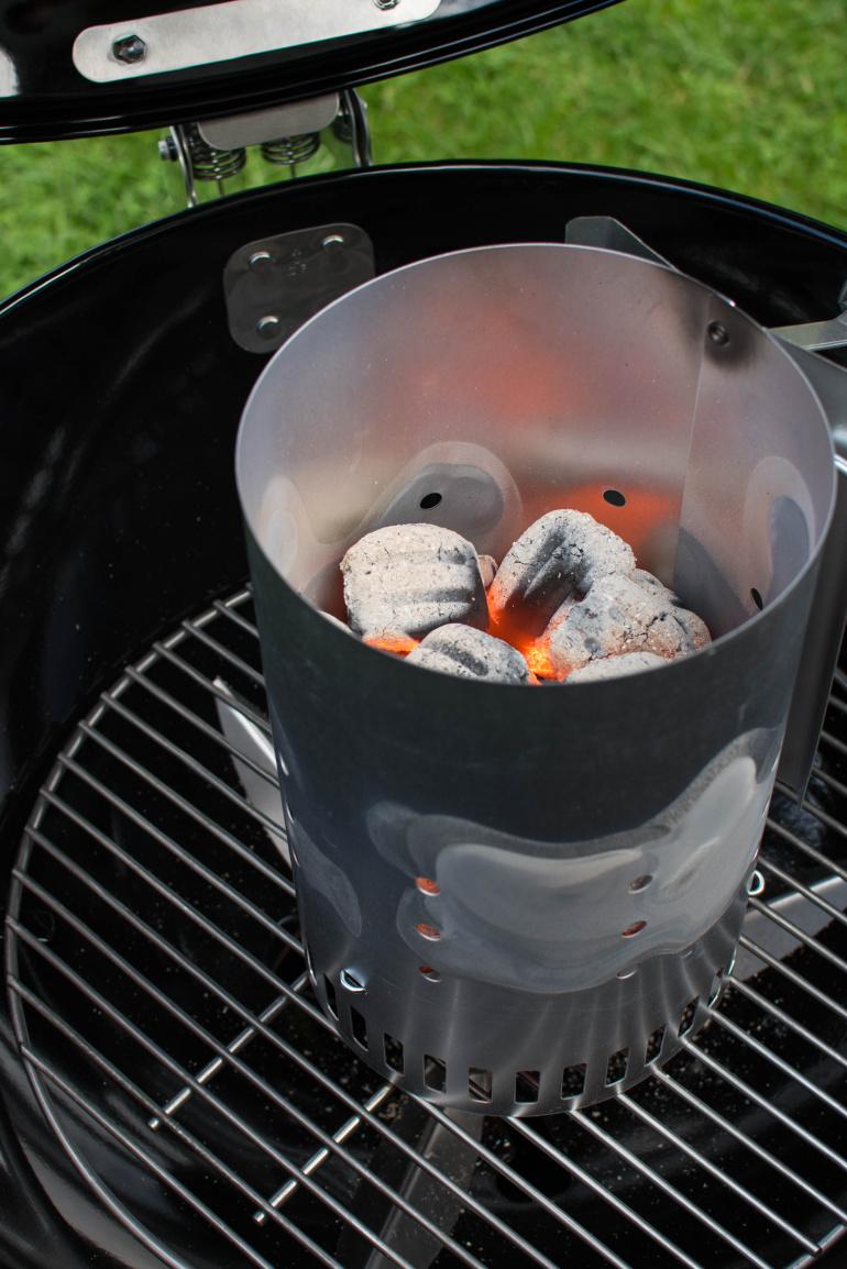 Grill węglowy weber, brykiety